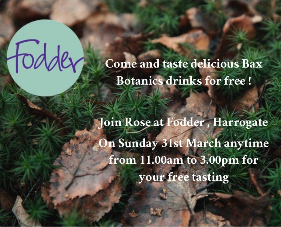 Free tastings at Fodder Harrogate
